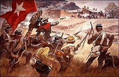 Battle of Glorieta Pass, March 26-28, 1862.  Few people know that Arizona Territory (modern day southern Arizona and southern New Mexico) seceded from the Union and jones the CSA during the Civil War. They even sent trips to try to occupy California, though their attempt failed.