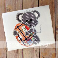 Mouse Boy Egg Applique by MunchkymsDesign on Etsy, $4.00