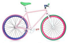 bicycle   la bici colorful Paint Bike, Baby Bike, Garage Makeover, Brompton, Bike Style, Cycling, Bicycles, Doodle, Notebook