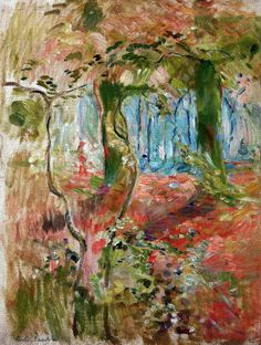 Berthe Morisot - Undergrowth in the Fall 1894 (Musee Marmottan Monet - Paris France) at Museo Thyssen-Bornemisza Madrid Spain