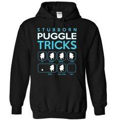 Stubbon Puggle Tricks T-Shirts, Hoodies. GET IT ==► https://www.sunfrog.com/Names/Stubbon-Puggle-Tricks-Black-Hoodie.html?41382