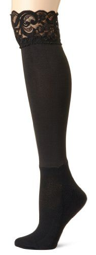 BOOTIGHTS Women's Lacie Lace Knee Hi with Ankle Sock, Jet, One Size Bootights,http://www.amazon.com/dp/B00DS2RY4M/ref=cm_sw_r_pi_dp_jDxwsb10YBFP22RJ