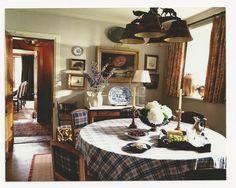 Glenfeshie Lodge in Scotland breakfast room ~ Ward Denton design