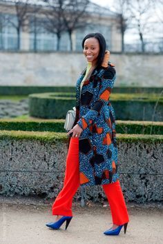 coat + trousers! #Africanfashion #Africanprints #Ethnicprints #Africangirls #africanTradition #BeautifulAfricanGirls #AfricanStyle #Africanweddings #kitenge #Gele #Kente #Ankara #Nigerianfashion #Ghanaianfashion ~DK