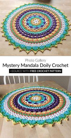Granny Square Häkelanleitung, Granny Square Crochet Pattern, Crochet Motif, Free Crochet, Free Mandala Crochet Patterns, Crochet Blanket Patterns, Crochet Home, Crochet Crafts, Crochet Mandela