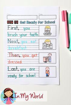 September Writing Journal - In My World First Grade Freebies, Schools First, Better One, School Readiness, Encouragement, September, Bullet Journal, Writing, Blog