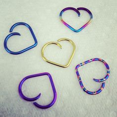 Niobium Daith Heart from unbreakablejewelry on Etsy. Shop more products from unbreakablejewelry on Etsy on Wanelo. Piercing Plug, Daith Piercing Jewelry, Rook Jewelry, Cool Ear Piercings, Types Of Ear Piercings, Body Piercings, Cartilage Earrings, Piercing Tattoo, Jewelry Art