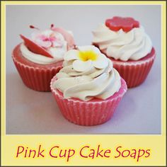 Pink Cupcake Soaps