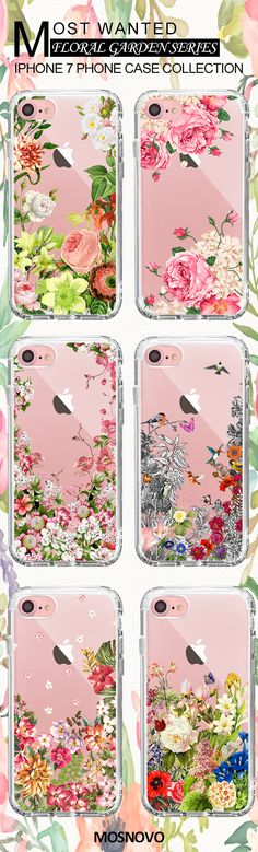 Mosnovo Floral Quote iPhone 7 Cases Collection ☞ http://amzn.to/2drC0CZ  #Mosnovo