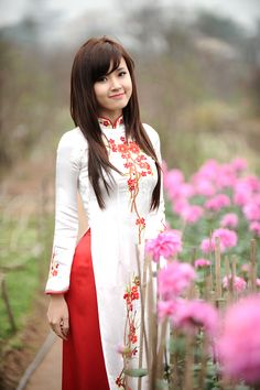 Unique Vietnamese Woman In Traditional Attire More