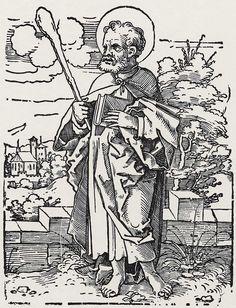 Beham, Hans Sebald: »Die Zwölf Apostel und Christus als Salvator mundi«, Hl. Judas Thaddäus c.1530