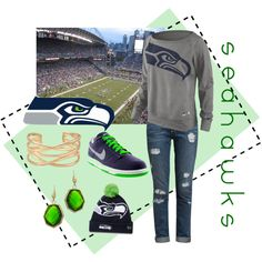 """Seahawks Sunday"" by dkmb on Polyvore"