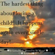 Having lost a young son & my dad, this is true with any loss.  You relive it frequently, especially close to their passing. Our family entered a season of loss where we lost 6 close family members very suddenly (2 in auto crash, 2 heart attacks, 1 stroke, 1 bizarre infection that became septic over the weekend) all w/in 15 months & was difficult to process. A few months later, we lost 2 more close family members who had battled an illness. Only the grace of God can fill such void.