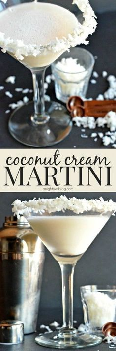 Happy National Coconut Torte Day! Make a Coconut Cream Martini with Blue Chair Bay Rum to celebrate! #celebrate #drinks Celebration Drinks