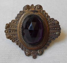 Vintage Victorian Faux Amethyst Lapel Pin/ Brooch. by BriarVintage, $135.00