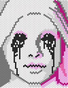 American Horror Story Asylum Crying Nun Bead Pattern | Peyote Bead Patterns | Characters Bead Patterns