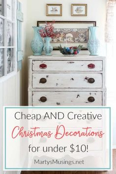 These 5 cheap Christmas decoration ideas will help you create the simple authentic home youve been longing for. No more boxes of costly decor or wasted time! via Musings Cheap Christmas Ornaments, Diy Christmas Decorations For Home, Diy Home Decor Easy, Christmas Home, White Christmas, Christmas Crafts, Christmas Ideas, Diy Projects For Bedroom, European Home Decor