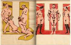 A Soviet-era erotic alphabet book by Sergey Murkurov. These illustrations add an entirely new kinky flair to the alphabet. Images Alphabet, Alphabet Books, Cyrillic Alphabet, Propaganda Art, The Libertines, Learn Russian, Letter Form, Erotic Art, Illustration