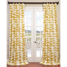 Triad Gold Printed Cotton Twill Curtain Panel - Overstock™ Shopping - Great Deals on EFF Curtains