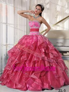 Weddings & Events 2019 New Fast Shipping Cheap Price Good Quality Strapless Embroidery A Line Organza Quinceanera Dresses Quinceanera Kjole Superior Materials