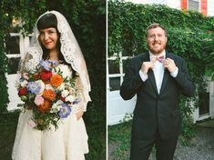 Literally exactly what I would pick to wear...dress, veil, flowers...groom's bow tie...