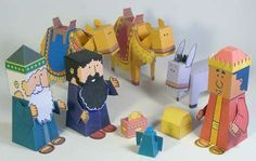 print and fold three kings papercraft; day 7