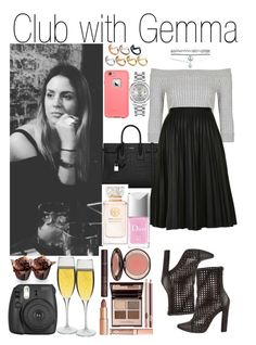 """""""Club with Gemma"""" by kiksfashion ❤ liked on Polyvore featuring Topshop, Balmain, Wet Seal, Yves Saint Laurent, ASOS, Rolex, Charlotte Tilbury, Tory Burch, Christian Dior and Dartington Crystal"""