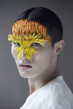 "hoechbeard: "" art-tension: "" ETAMINE – Flowered portraits by Isabelle Chapuis and Duy Anh Nhan Duc Etamine serie, the duo formed by photographer Isabelle Chapuis and vegetal artist Duy Anh Nhan Duc."