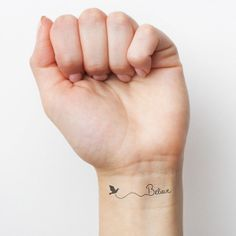 Believe temporary tattoo Set of 2 by Tattify on Etsy, $5.00