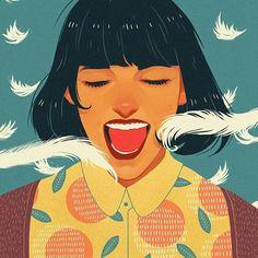 @ohcomelymag issue 37 .  .  .  .  #ohcomely #ohcomelymag #illustration #art #anagodis #artistsofinstagram #digitalart #digitalpainting #drawing #painting #portrait #draw #art #artists #illustrator #issue