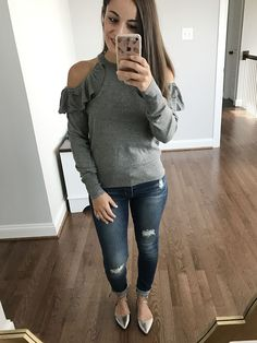 Fall outfit Idea - Cold Shoulder Sweater Nordstrom Anniversary Sale 2017 Petite Blogger Picks