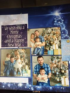 Christmas scrapbook page from the Blue Christmas collection at Ella & Viv..
