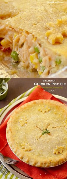 Empadão de Frango (Brazilian Chicken Pot Pie) - does this look good or what?
