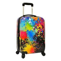 Traveler ™s Choice Paint Splatter 29-Inch Hardside Spinner Luggage, Multicolor