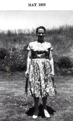MY Grandma Louise wearing a cool dress.