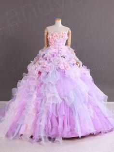 カラードレス プリンセスライン ビスチェ オーガンジー コートトレーン サイズオーダードレス ブライダル 結婚式 JP0038