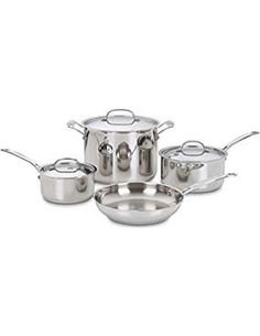 Cuisinart Classic Stainless 7 Piece Cookware. >>> You can find more details by visiting the image link. (This is an affiliate link) #CookwareSets