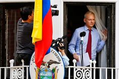 Julian Assange Gives His First Speech From The Balcony Of The Ecuadorian Embassy