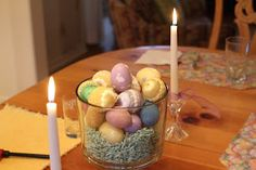 DIY Rustic Easter Table Centerpiece