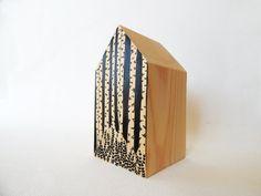 Birch tree house. Black forest house. Birch forest by DecorAsylum
