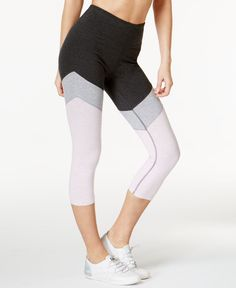 Calvin Klein Performance High-Rise Cropped Colorblocked Leggings