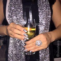 #NYE #chromenails   Happy 2016 everyone!!  I used #opi #pushandshove for this #chrome look. Cheers!  ✨ #nails #nailart #nyenails