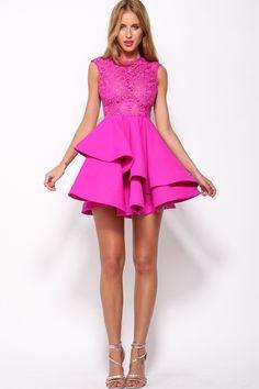 Romance Dress Fuchsia