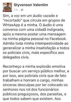 RN POLITICA EM DIA: CAPITÃO STYVENSON PEDE DESCULPAS A DELEGADOS MAS M...