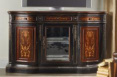 """Three Drawer Cheery and Rosewood 69"""" tv console"""