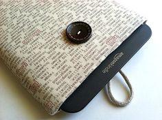 Custom Kindle Sleeve - Words