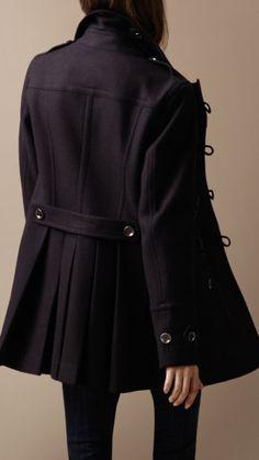 Burberry - Regimental wool duffle coat