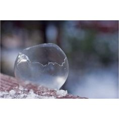 Blow bubbles in the winter they will freeze !!  I don't believe it, but I'm gonna try it!