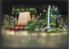 Pennsylvania Horticultural Society with Waldor Orchids' display. Photo from Press of Atlantic City.