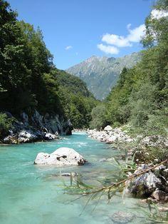 Soca near Kobarid, Slovenia
